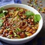 Hot & sour glass noodle soup