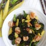Bbroccoli and prawn stir-fry