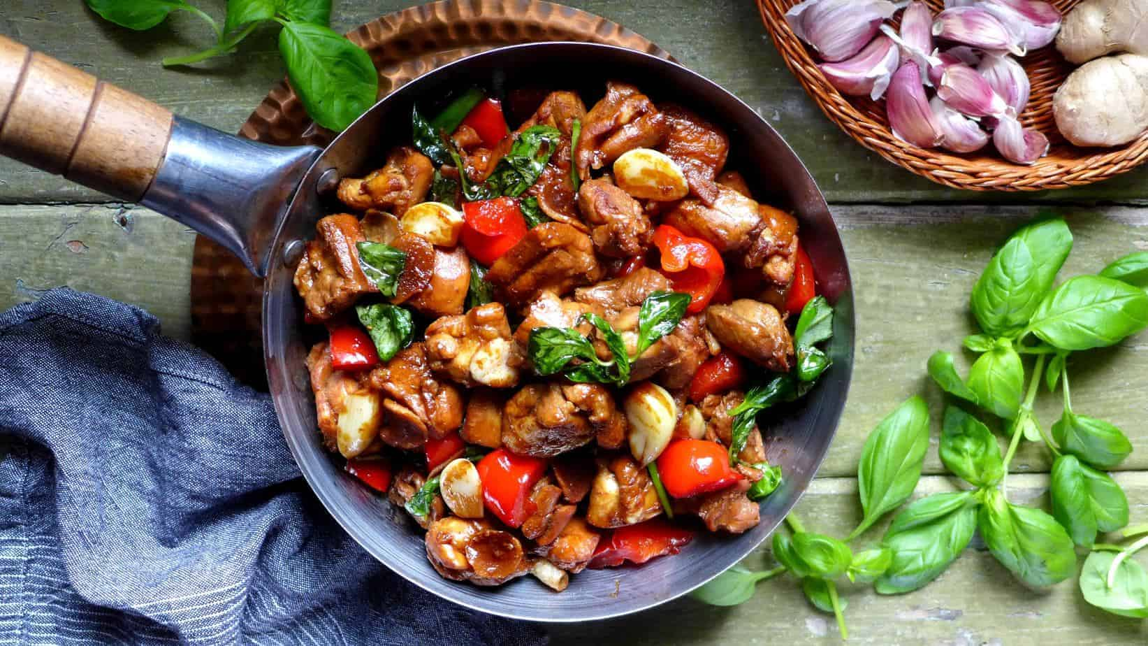 Super aromatic three cup chicken (三杯鸡)