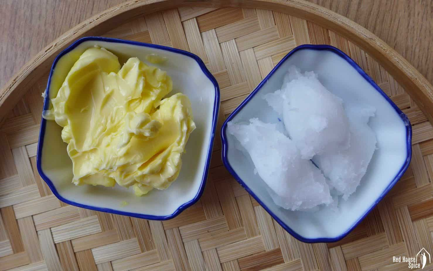 butter and coconut oil