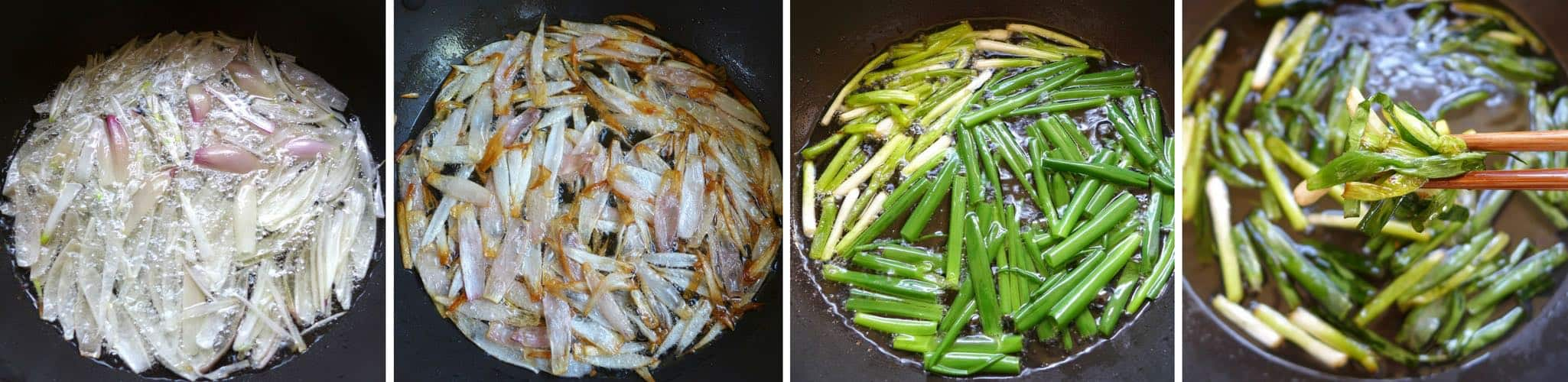 A step by step recipe guiding you to make Chinese spring onion oil without fail. You will also learn how to use this versatile condiments in seven ways.