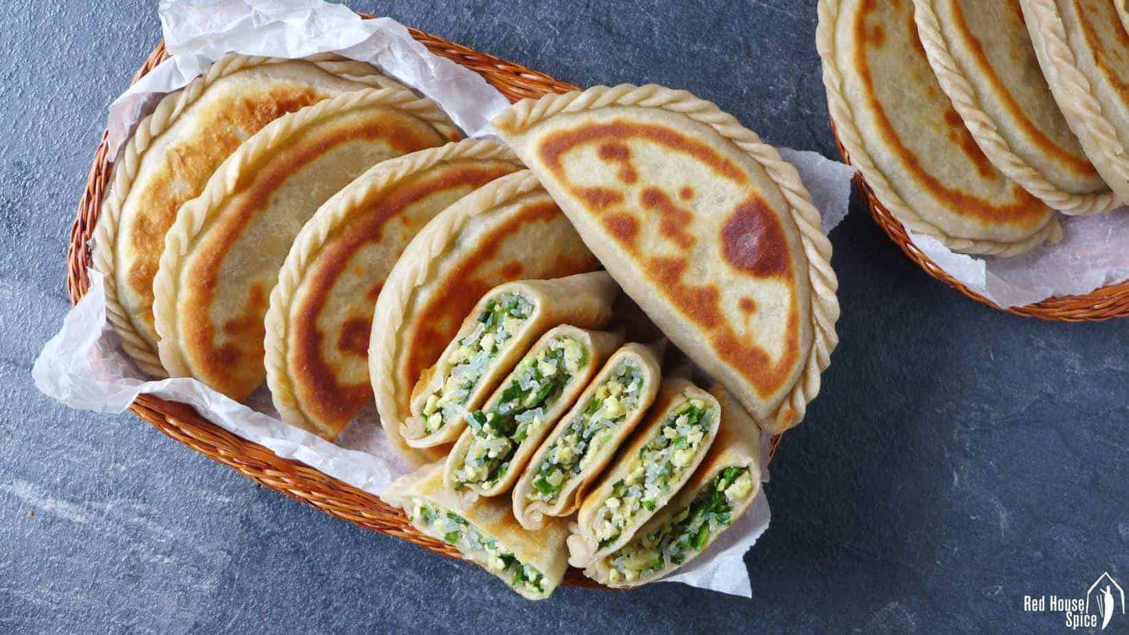 Chinese Chive Pockets 韭菜盒子 Red House Spice