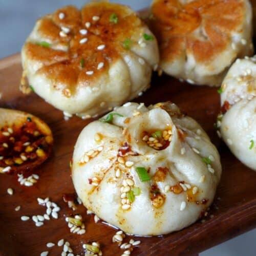 Sheng Jiang Bao with chili oil