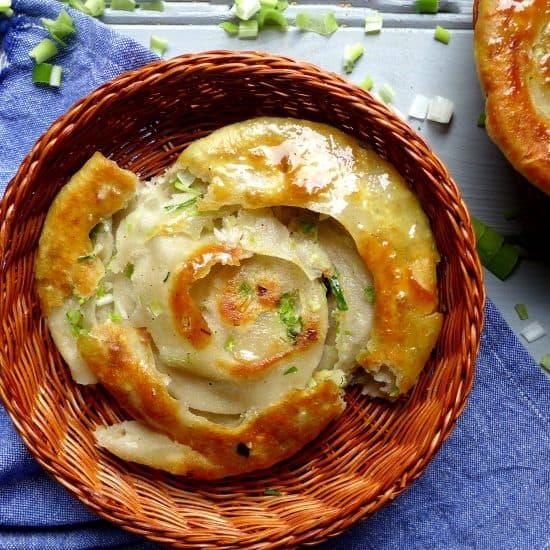 a Chinese scallion pancake.