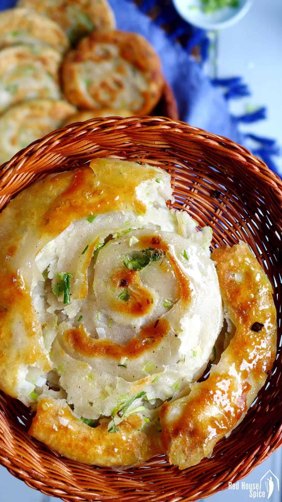 A scallion pancake