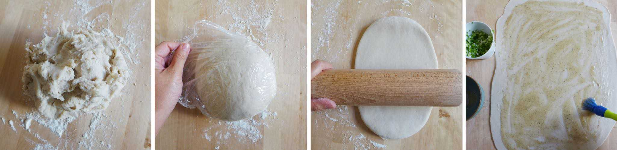 Kneading and rolling dough
