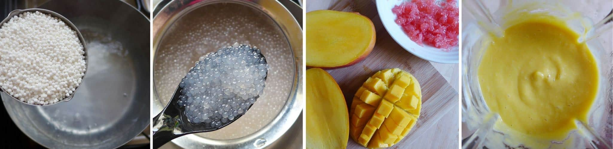 making mango sago