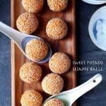 Chinese sesame balls made from sweet potato