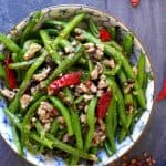 Sichuan style dry fried green beans.