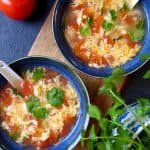 Chinese egg drop soup with tomato