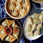 boiled, pan-fried & steamed dumplings.