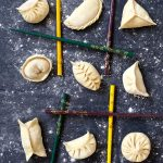 Nine dumplings in nine different patterns.