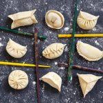 dumplings folded in 9 patterns
