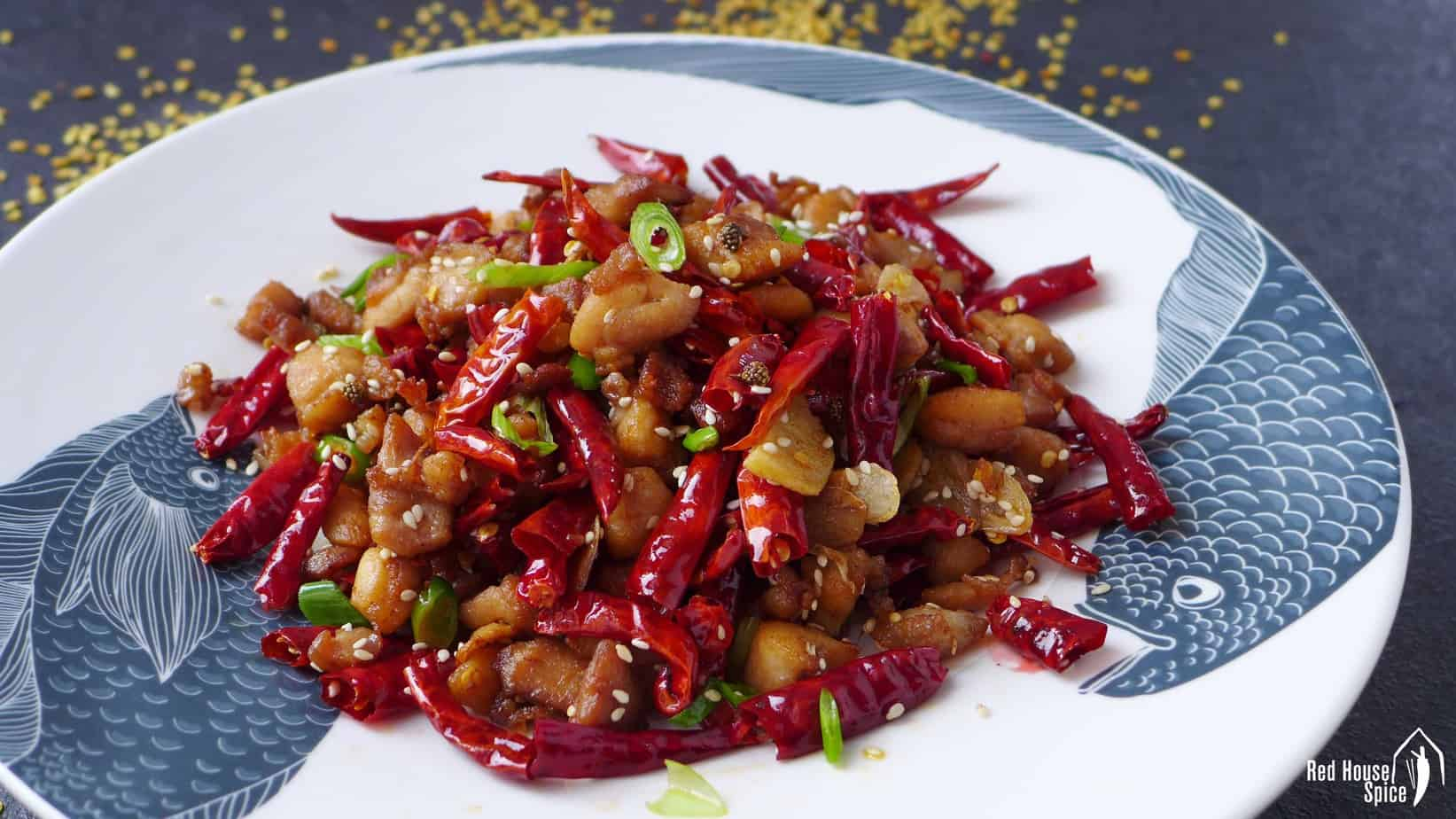 Mala Chicken Chongqing Laziji 辣子鸡 Red House Spice