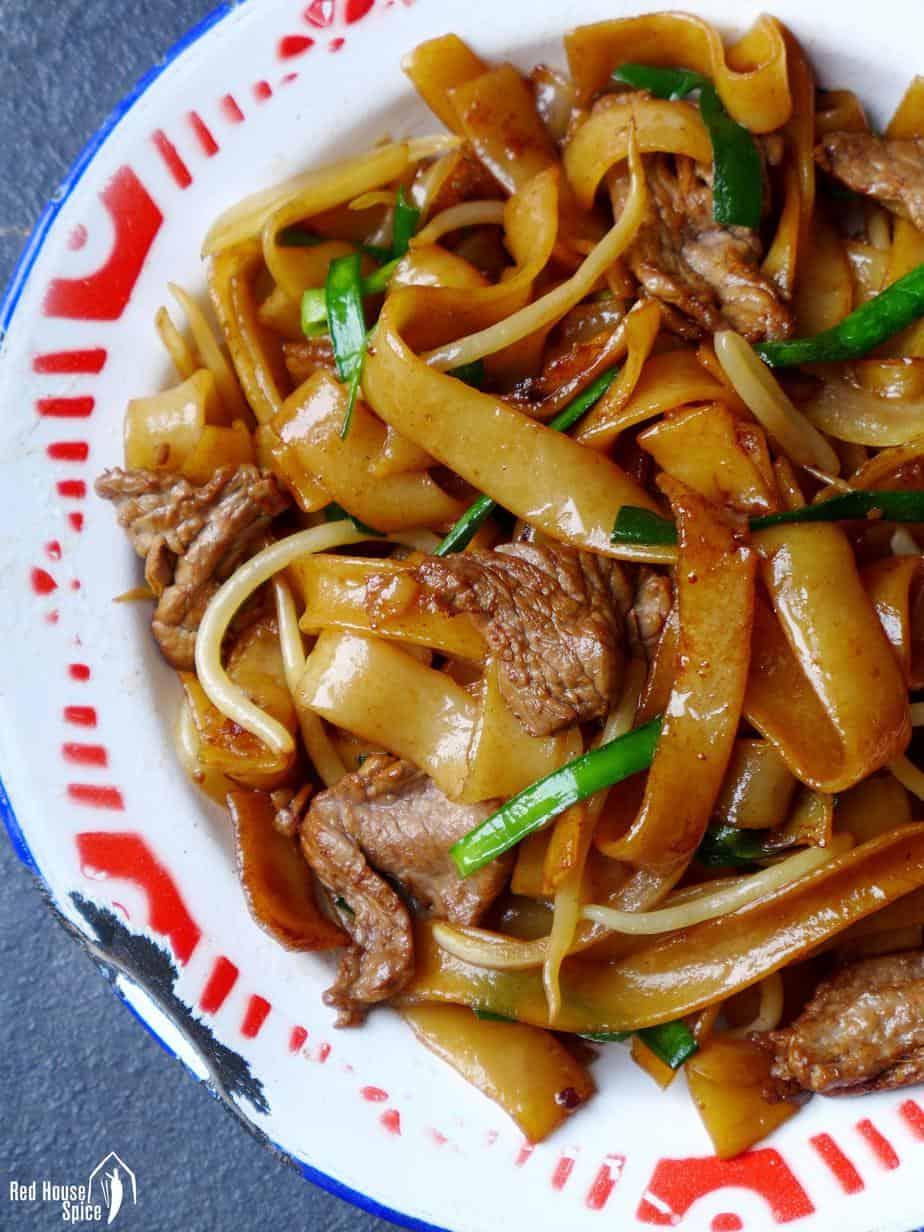 Cantonese dish beef chow fun