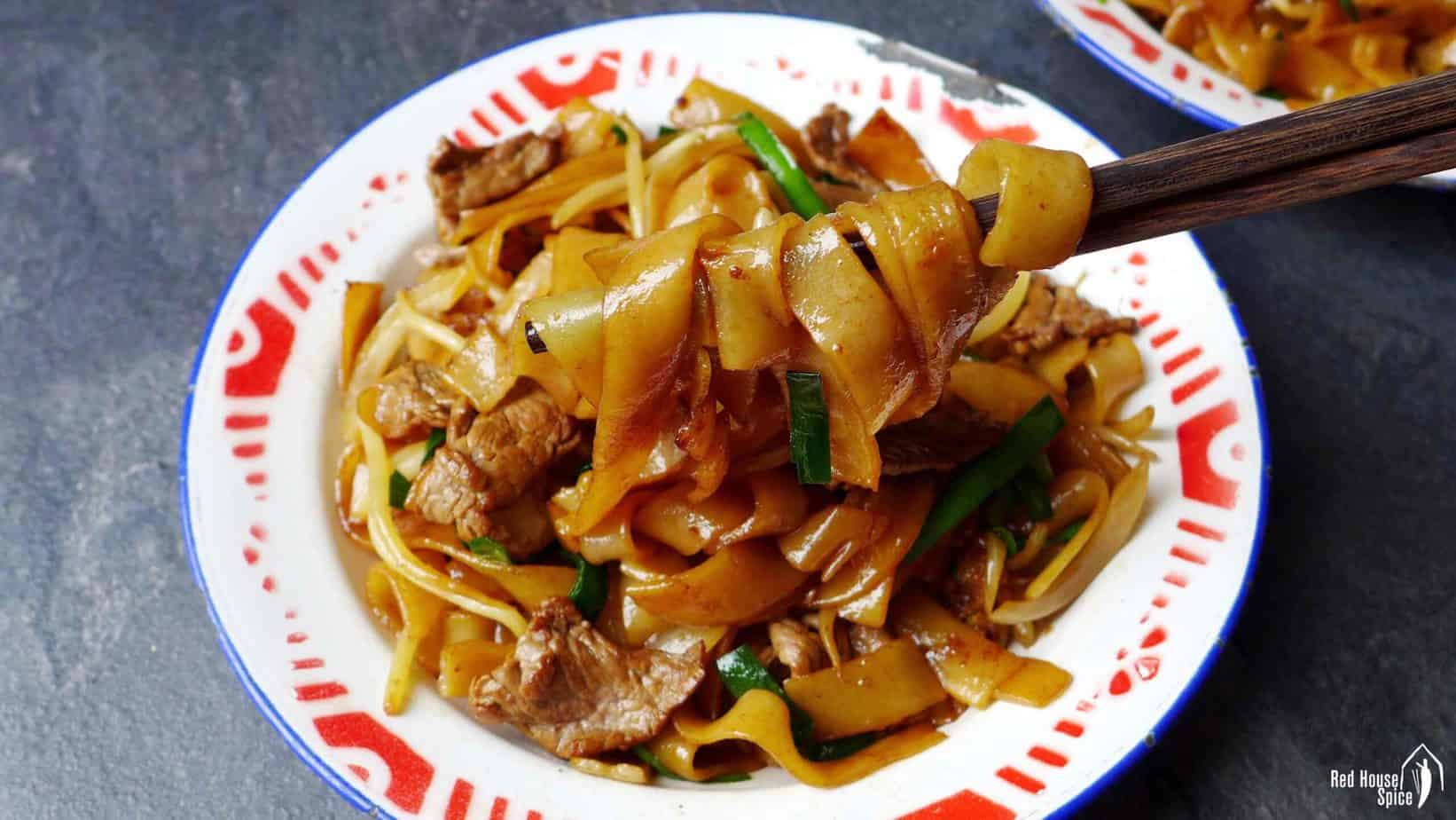 Beef Chow Fun Beef Ho Fun 干炒牛河 Red House Spice