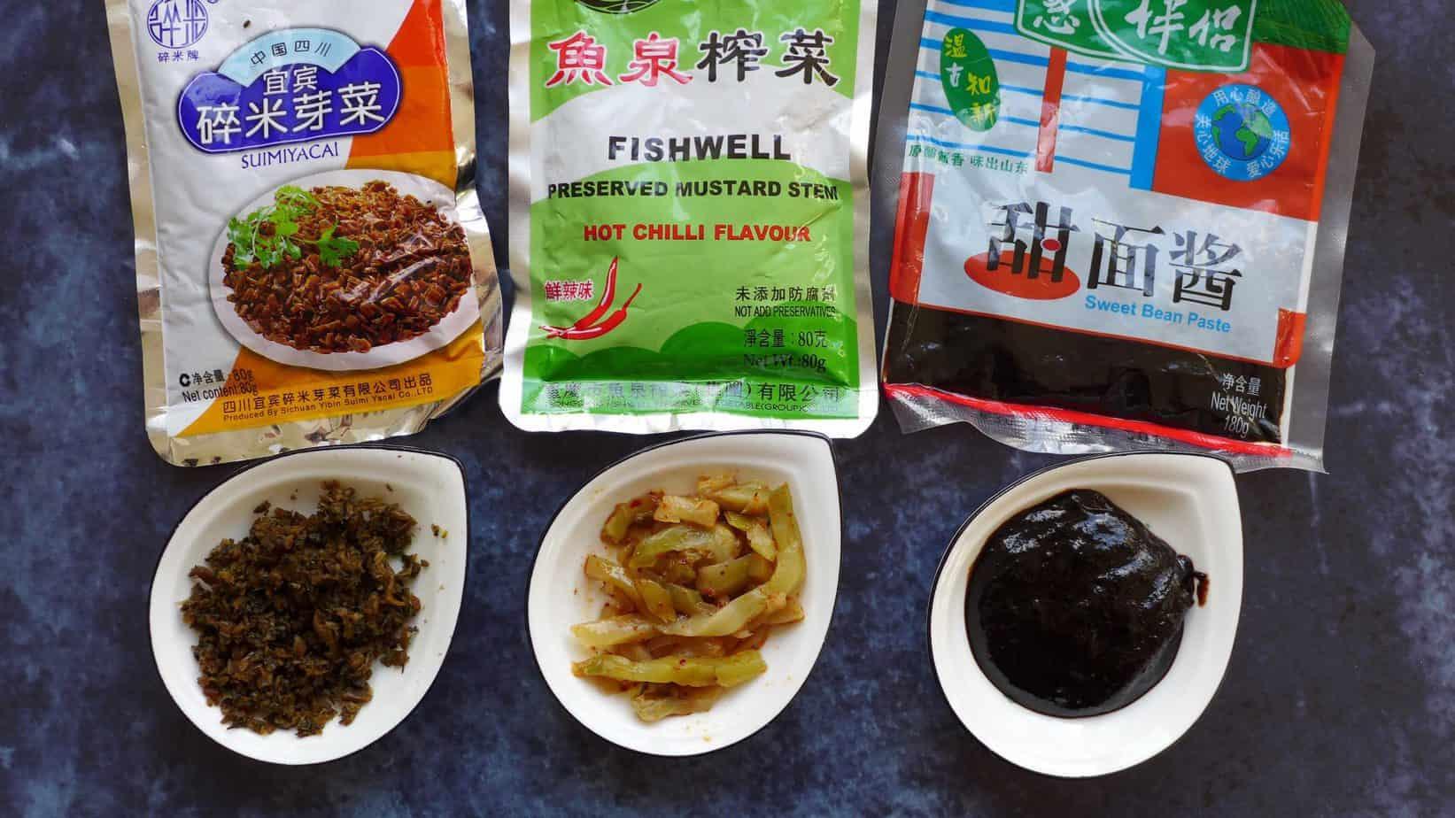 Packets of Yacai, Zhaicai & Tianmianjiang