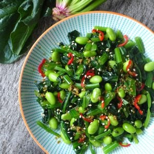 Spinach & soybean salad