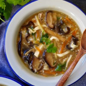 A bowl of hot and sour soup