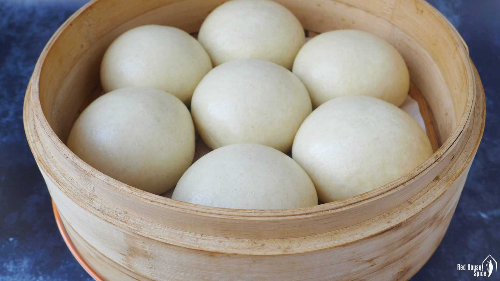 Round shaped Mantou, Chinese steamed buns