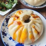 A steamed bao buns dressed with chilli oil