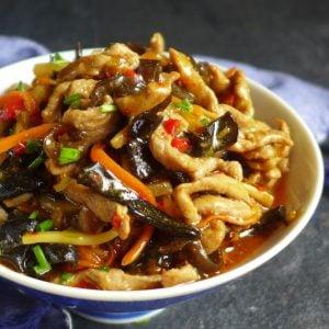 Stir fried pork with garlic sauce