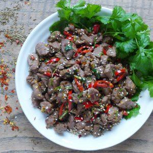 Spicy cumin lamb stir fry