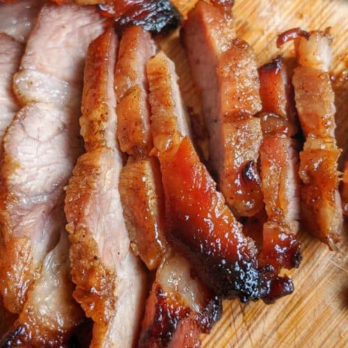Sliced Chinese BBQ pork