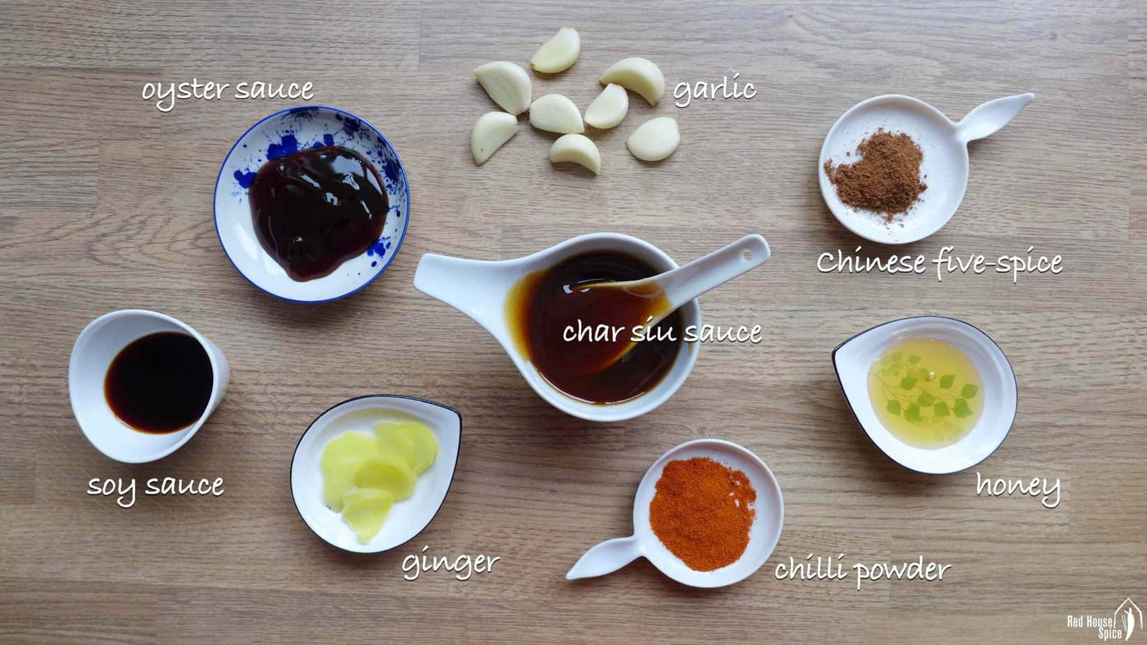 Marinade ingredients for Chinese BBQ pork