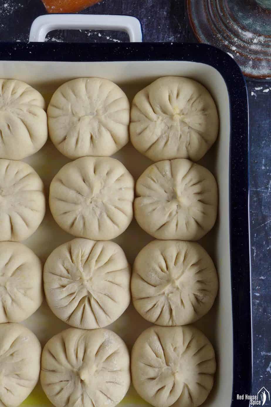 Uncooked bao buns