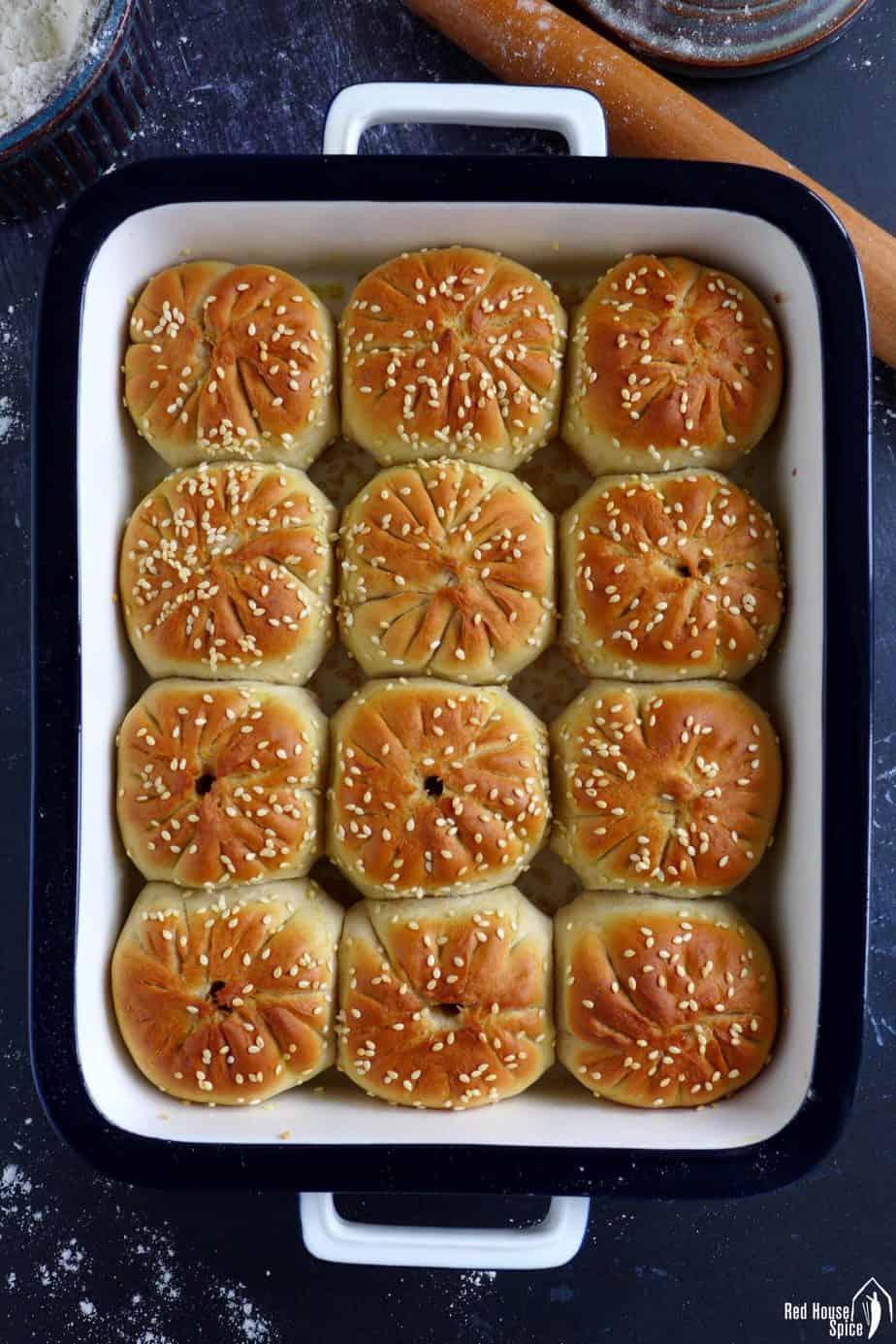 baked lamb bao buns