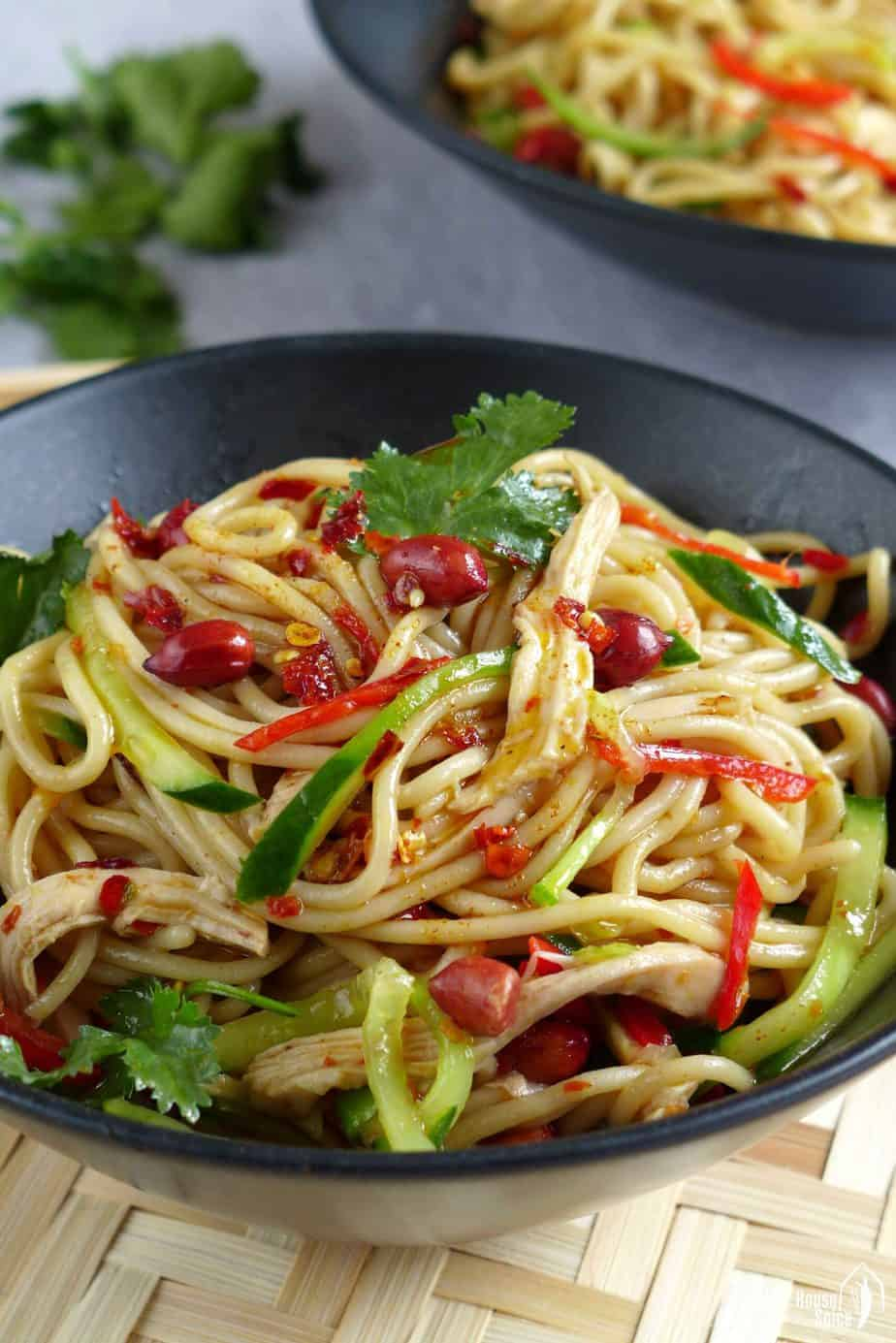 Cold noodles with Sichuan style dressing