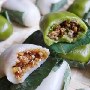 Two sticky rice cakes