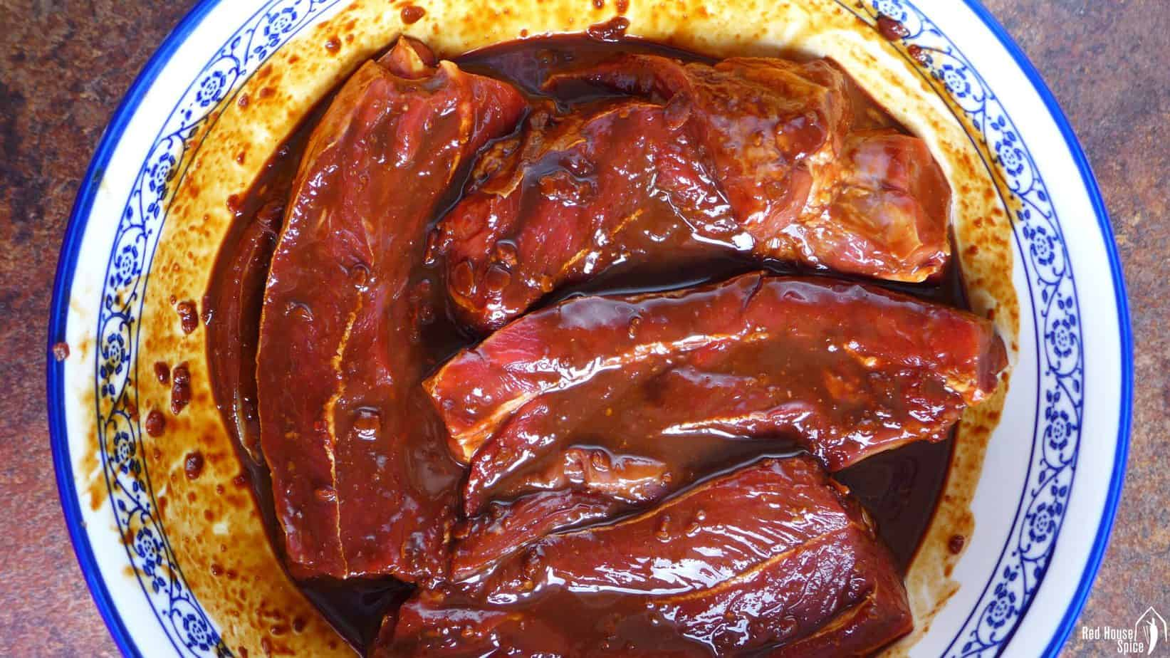 marinated beef pieces