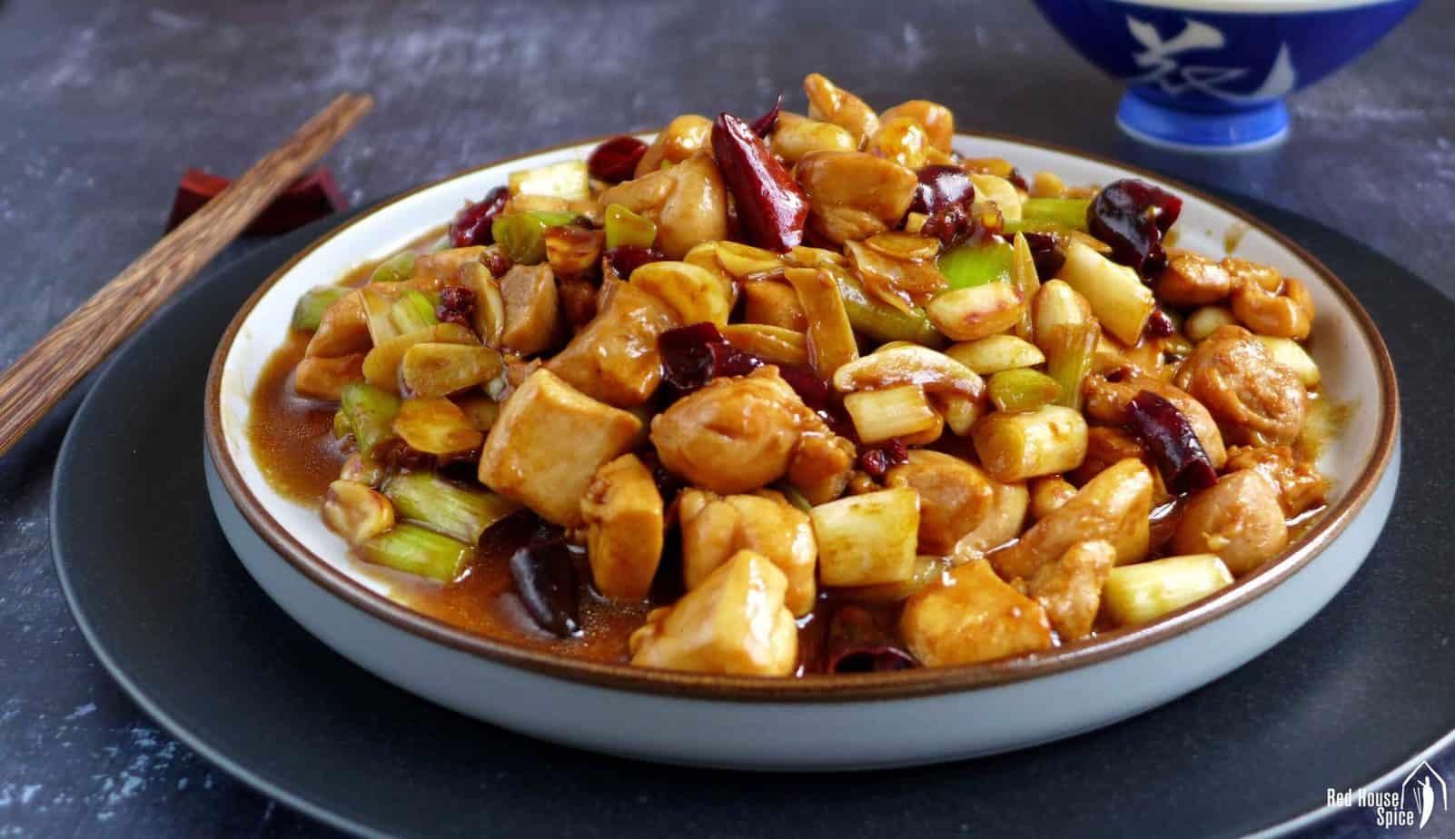 Gong Bao chicken stir-fry