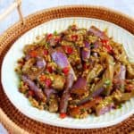 Eggplant stir-fry with garlic sauce