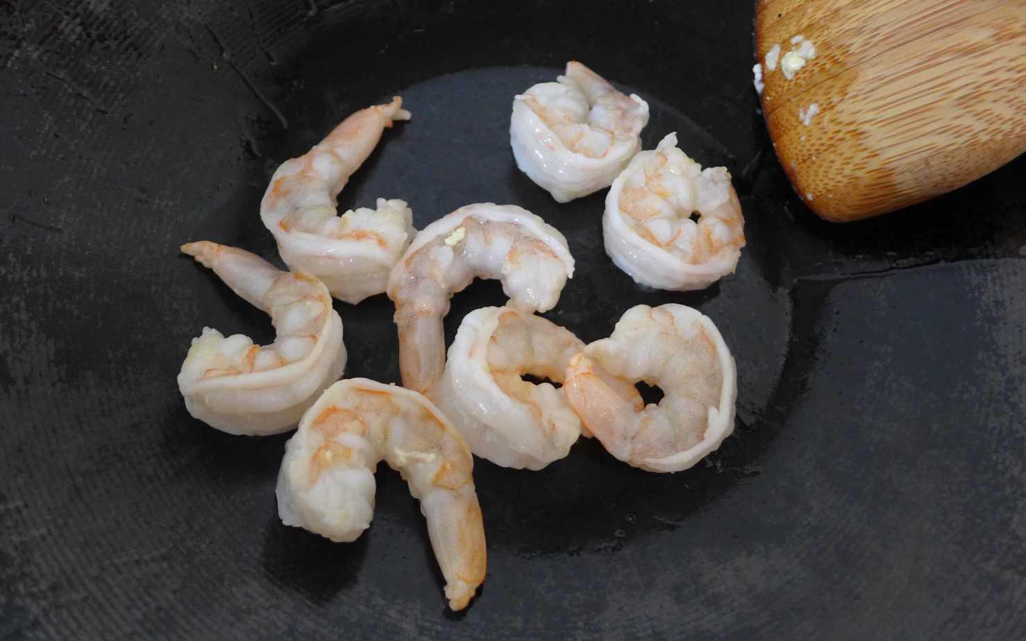 fry fresh shrimp