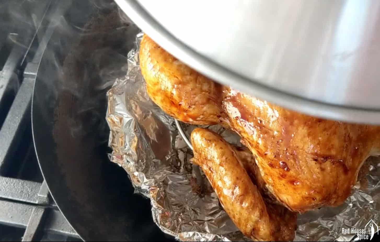 Chicken in a wok