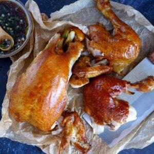 Smoked chicken in pieces