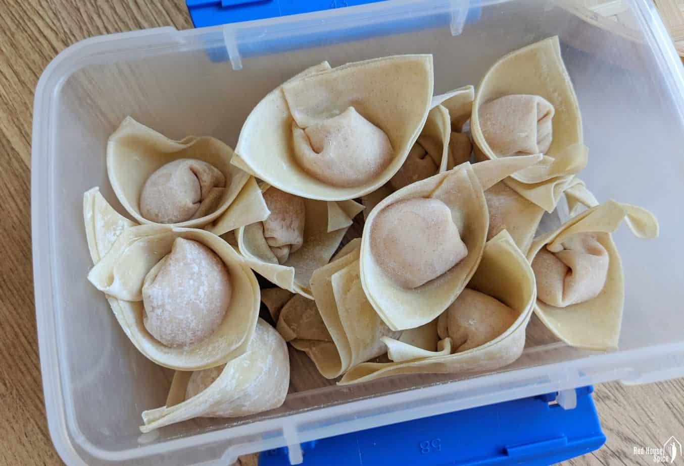 frozen wontons in a box