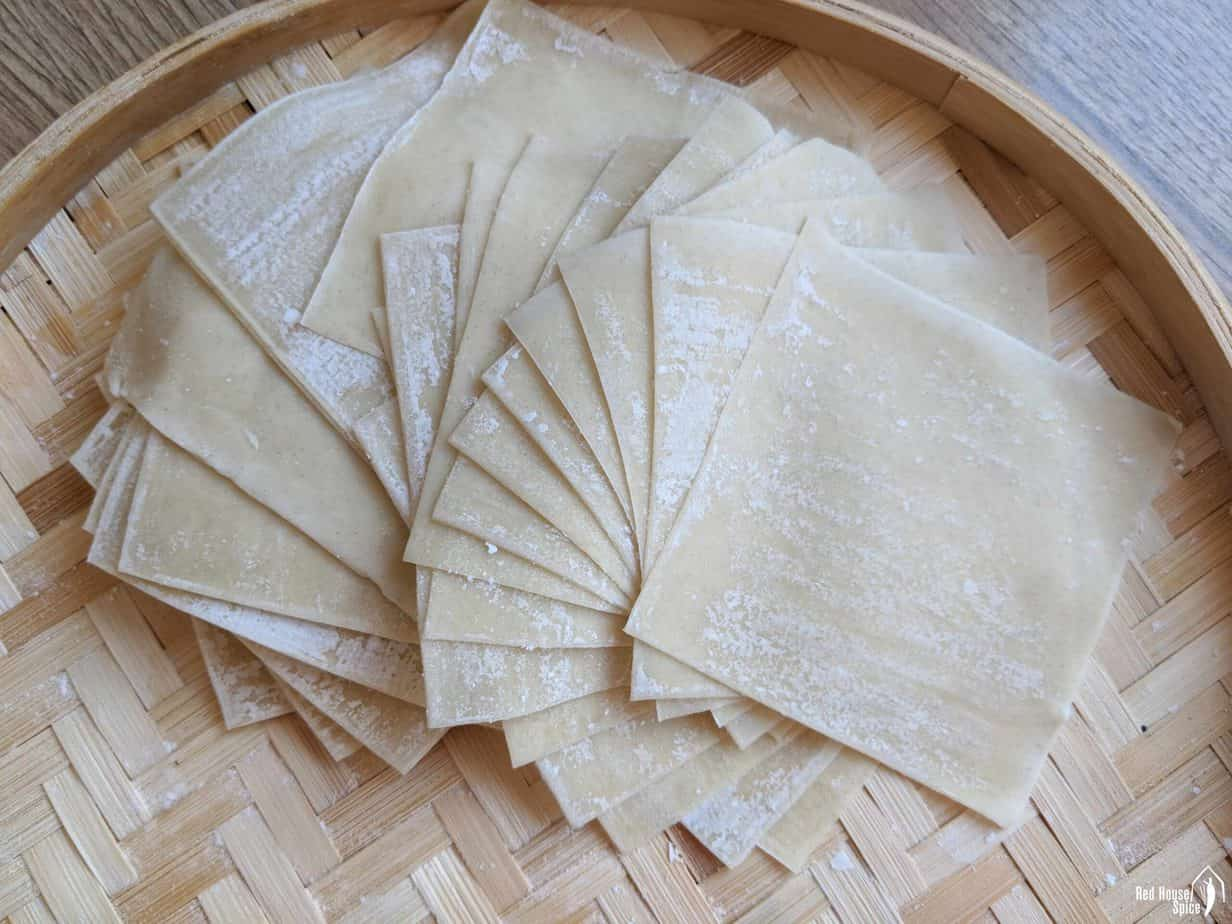 ready-made wonton wrappers