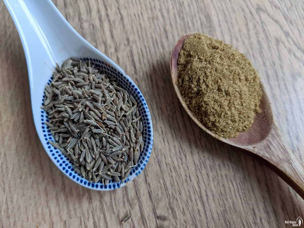 cumin seeds and cumin powder