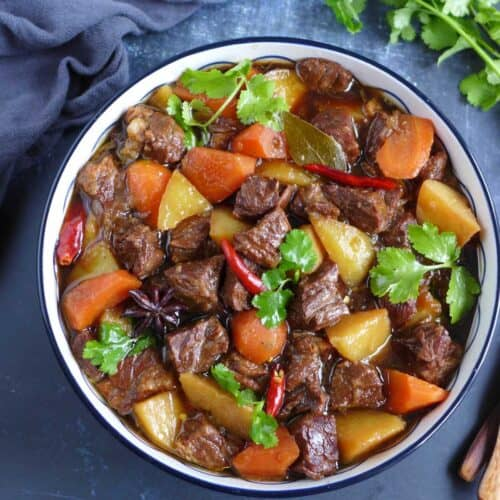Chinese beef and potato stew