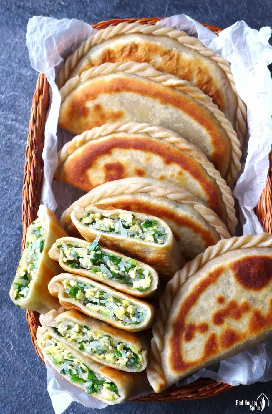 Chinese chive pockets