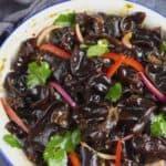 wood ear mushroom salad with Chinese dressing