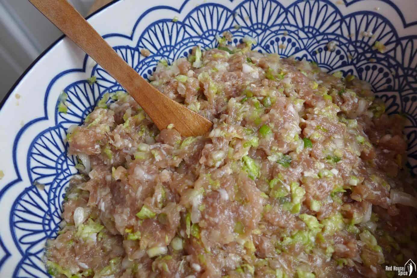 pork and napa cabbage dumpling filling