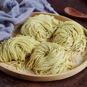 four portions of fresh alkaline noodles