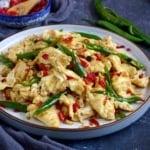 Hunan egg and pickled chili stir-fry