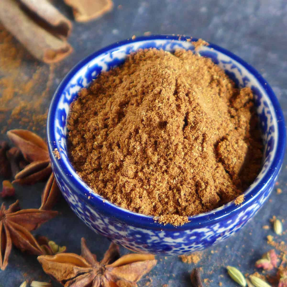 Homemade five spice powder in a bowl